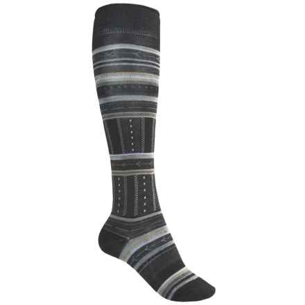 SmartWool Gleaming Seedling Socks - Merino Wool, Over the Calf (For Women) in Black - 2nds