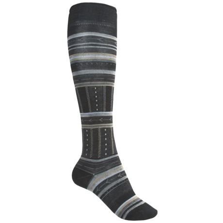 SmartWool Gleaming Seedling Socks - Merino Wool, Over the Calf (For Women) in Black