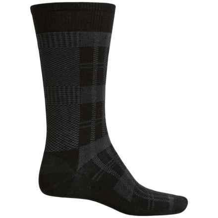 SmartWool Glen Plaid Socks - Merino Wool, Crew (For Men) in Black - Closeouts