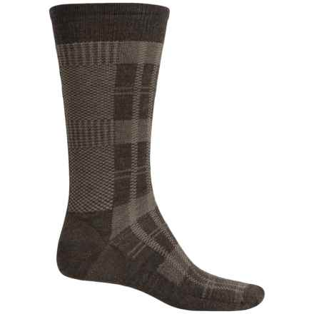 SmartWool Glen Plaid Socks - Merino Wool, Crew (For Men) in Chestnut - Closeouts