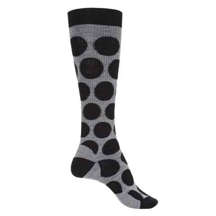 SmartWool Graduated Compression Dot Socks - Merino Wool, Over the Calf (For Women) in Black - Closeouts