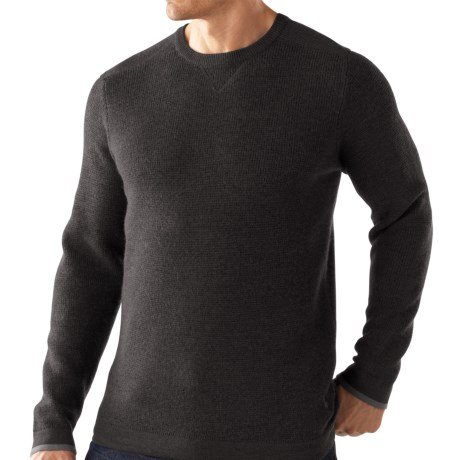 SmartWool Granite Creek Sweater - Merino Wool (For Men) in Charcoal Heather