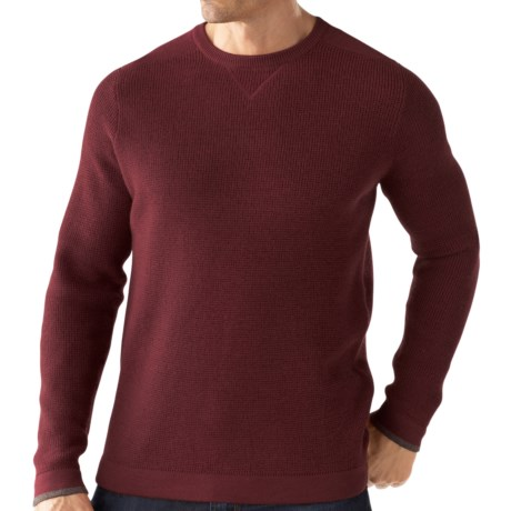 SmartWool Granite Creek Sweater - Merino Wool (For Men) in Mahogany