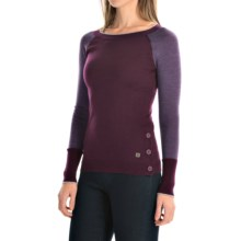 SmartWool Granite Falls Sweater - Crew Neck (For Women) in Aubergine Heather - Closeouts