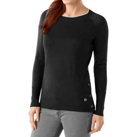 SmartWool Granite Falls Sweater - Crew Neck (For Women) in Black - Closeouts