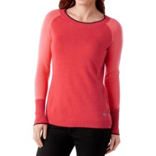 SmartWool Granite Falls Sweater - Crew Neck (For Women) in Hibscus Heather - Closeouts