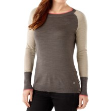 SmartWool Granite Falls Sweater - Crew Neck (For Women) in Taupe Heather - Closeouts
