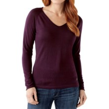 SmartWool Granite Falls Sweater - Merino Wool, V-Neck, Long Sleeve (For Women) in Aubergine Heather - Closeouts