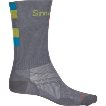 98269f9af99 SmartWool Graphite PhD Run Ultralight Logo Socks - Merino Wool