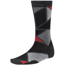 SmartWool Gridlock Socks - Merino Wool, Crew (For Men) in Black - Closeouts
