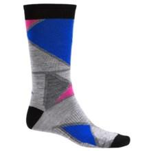 SmartWool Gridlock Socks - Merino Wool, Crew (For Men) in Light Grey Heather - Closeouts