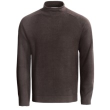 SmartWool Hanging Lake Roll Neck Sweater - Merino Wool (For Men) in Chocolate - Closeouts