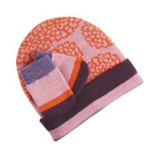 SmartWool Hat and Mitten Set (For Infant Girls) in Petal - Closeouts