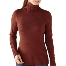 SmartWool Hayden Spires Turtleneck - Merino Wool, Long Sleeve (For Women) in Cinnamon Heather - Closeouts