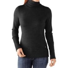 SmartWool Hayden Spires Turtleneck Sweater - Merino Wool (For Women) in Charcoal Heather - Closeouts