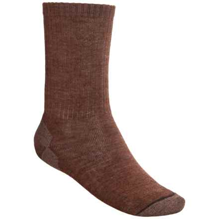 SmartWool Heathered Rib Merino Wool Socks - Crew (For Men and Women) in Espresso Heather - 2nds