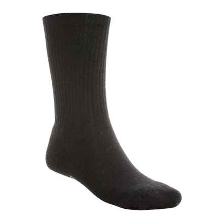 SmartWool Heathered Rib Socks - Merino Wool, Crew (For Men) in Black - 2nds