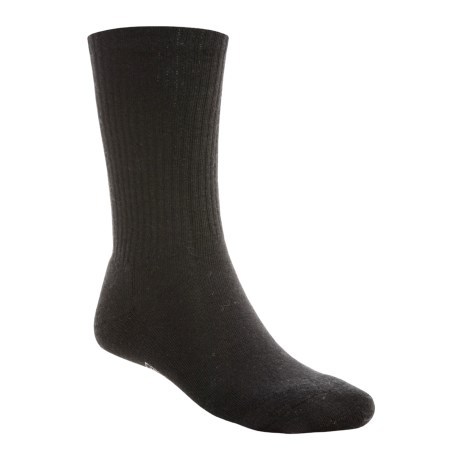 SmartWool Heathered Rib Socks - Merino Wool, Crew (For Men) in Black