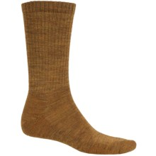 SmartWool Heathered Rib Socks - Merino Wool, Crew (For Men) in Caramel Heather - 2nds