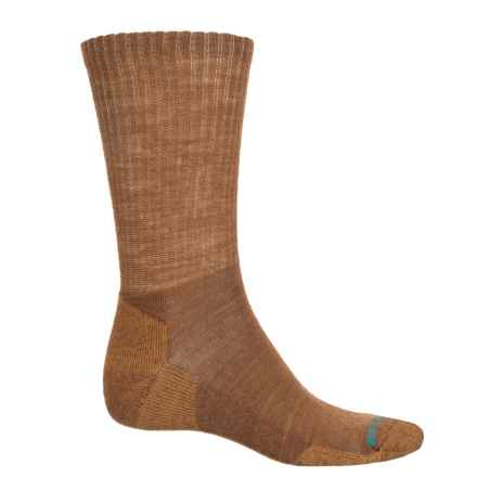 SmartWool Heathered Rib Socks - Merino Wool, Crew (For Men) in Carmel Marl - Closeouts