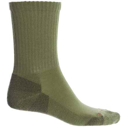 SmartWool Heathered Rib Socks - Merino Wool, Crew (For Men) in Loden - Closeouts