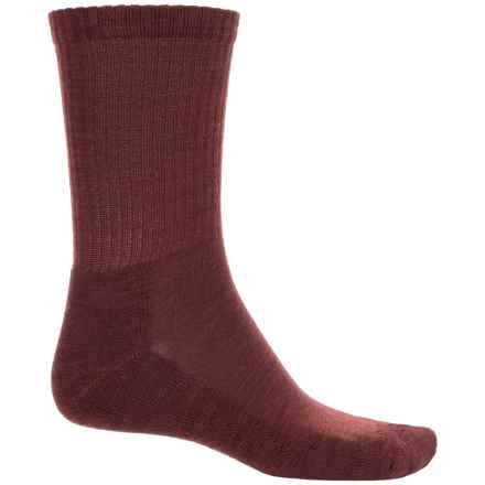 SmartWool Heathered Rib Socks - Merino Wool, Crew (For Men) in Mahogany/Chestnut - Closeouts
