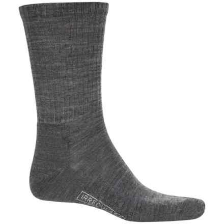 SmartWool Heathered Rib Socks - Merino Wool, Crew (For Men) in Medium Gray - 2nds