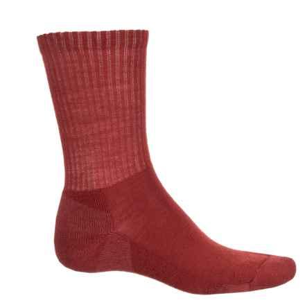 SmartWool Heathered Rib Socks - Merino Wool, Crew (For Men) in Moab Rust - Closeouts