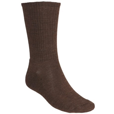 SmartWool Heathered Rib Socks - Merino Wool  (For Men and Women) in Espresso Heather