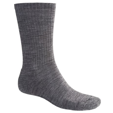 SmartWool Heathered Rib Socks - Merino Wool  (For Men and Women) in Medium Grey Heather