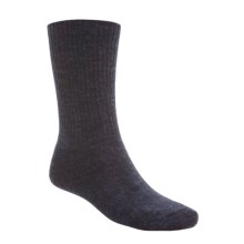 SmartWool Heathered Rib Socks - Merino Wool  (For Men and Women) in Navy/Charcoal - 2nds