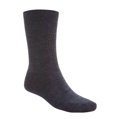 SmartWool Heathered Rib Socks - Merino Wool  (For Men and Women) in Navy/Charcoal