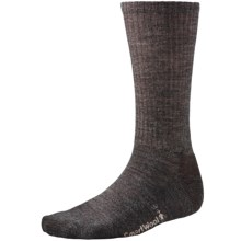 SmartWool Heathered Rib Socks - Merino Wool  (For Men and Women) in Taupe Marl - 2nds
