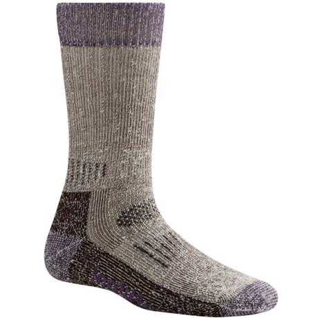 SmartWool Heavy Hunting Socks - Merino Wool, Crew (For Women) in Chestnut/Des Purple