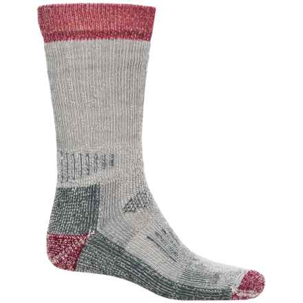 SmartWool Heavyweight Hunting Socks - Merino Wool, Mid Calf (For Men and Women) in Charcoal/Red - Closeouts