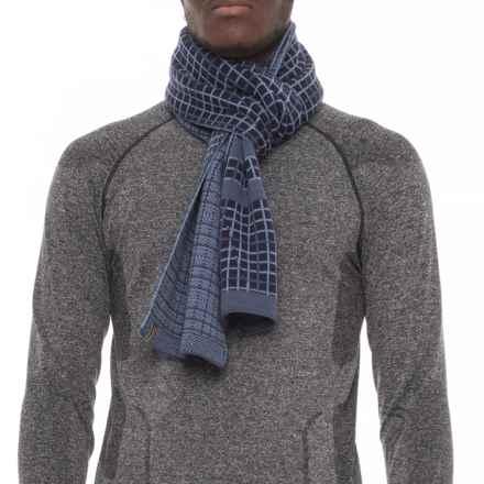 SmartWool Heritage Square Scarf - Merino Wool (For Men and Women) in Dark Blue Steel - Overstock