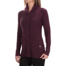 SmartWool Hesperus Sweater - Merino Wool (For Women) in Aubergine Heather - Closeouts