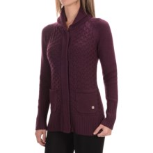 SmartWool Hesperus Sweater - Merino Wool (For Women) in Aubergine Heather - Closeouts