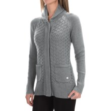 SmartWool Hesperus Sweater - Merino Wool (For Women) in Silver Grey Heather - Closeouts