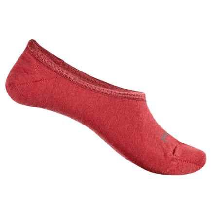 SmartWool Hide & Seek Garden No-Show Socks - Merino Wool, Below the Ankle (For Women) in Hibiscus - Closeouts