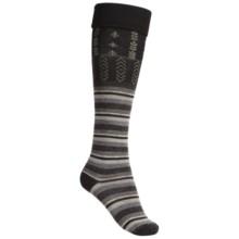 SmartWool High Isle Socks - Merino Wool, Over-the-Calf (For Women) in Black - 2nds
