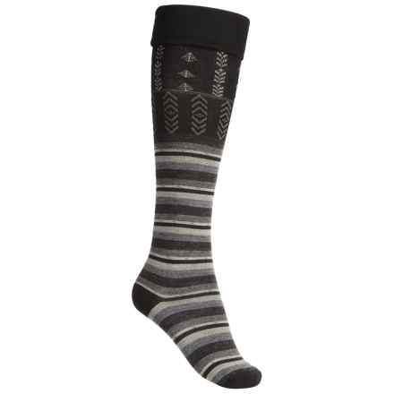SmartWool High Isle Socks - Merino Wool, Over-the-Calf (For Women) in Black - 2nds