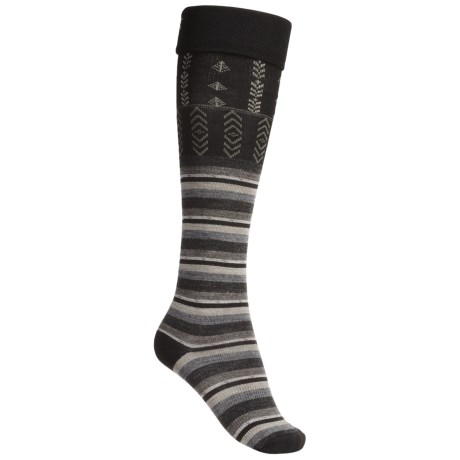 SmartWool High Isle Socks - Merino Wool, Over-the-Calf (For Women) in Black