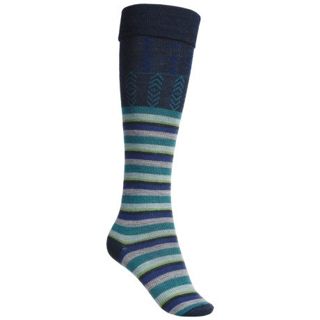 SmartWool High Isle Socks - Merino Wool, Over-the-Calf (For Women) in Navy Heather