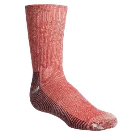 SmartWool Hike Light Socks - Merino Wool, Crew (For Little and Big Kids) in Fire Red Heather - Closeouts