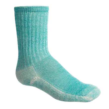 SmartWool Hike Light Socks - Merino Wool, Crew (For Little and Big Kids) in Green Tea - Closeouts