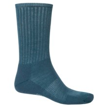 SmartWool Hike Light Socks - Merino Wool, Crew (For Men and Women) in Deep Sea - 2nds