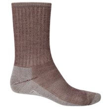 SmartWool Hike Light Socks - Merino Wool, Crew (For Men and Women) in Oatmeal/Rust - 2nds