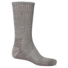 SmartWool Hike Light Socks - Merino Wool, Crew (For Men and Women) in Silver Gray Heather/Natural - 2nds