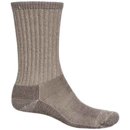 SmartWool Hike Light Socks - Merino Wool, Crew (For Men and Women) in Taupe - Closeouts